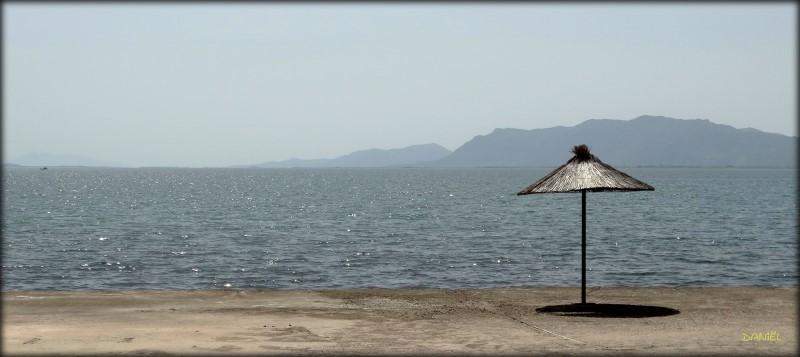 On the beach … .. .